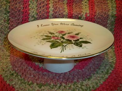 Vintage China Cake Plate Pink Roses Cake Stand I Knew You Were Coming So I Bought : vintage cake plate - pezcame.com