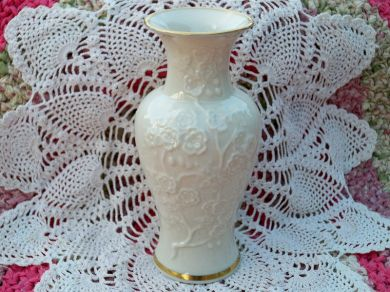 lenox vase with gold trim. vintage lenox china oriental cherry blossoms ivory vase gold trim with r