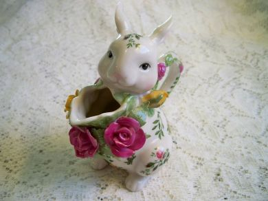 Vintage Royal Albert Old Country Roses Bunny Creamer Milk Pitcher